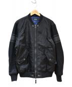 DIESEL(ディーゼル)の古着「ウール切替ブルゾン」|ブラック