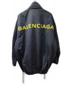 BALENCIAGA(バレンシアガ)の古着「オーバーシルエットナイロンコート」 ブラック