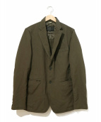 COMME des GARCONS HOMME DEUX(コムデギャルソン オム ドゥ)の古着「ポリ2Bジャケット」|オリーブ