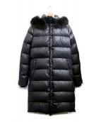 DUVETICA(デュベティカ)の古着「ファー付ダウンコート」 ブラック