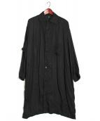 Y's(ワイズ)の古着「テンセルロングシャツ」|ブラック