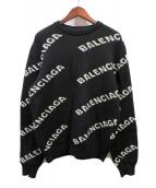 BALENCIAGA(バレンシアガ)の古着「Itarsiaロゴニット」|ブラック