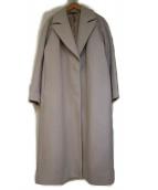 LAUTRE AMONT(ロートレアモン)の古着「ブラッシュドメルトントレンドカラーコート」|ベージュ