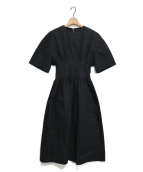 LE CIEL BLEU(ルシェルブルー)の古着「ラウンドフォームサマードレス」|ブラック
