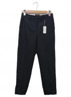 TOMORROW LAND collection(トゥモローランドコレクション)の古着「ウールアムンゼンシガレットパンツ」|ブラック