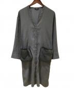 COMME CA(コムサ)の古着「エコスエードシャツコート」 グレー