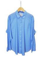 MACKINTOSH LONDON(マッキントッシュ ロンドン)の古着「ミニジオメトリックプリントシャツ」 スカイブルー