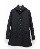 BURBERRY LONDON(バーバリーロンドン)の古着「キルティングフーデッドコート」 ブラック