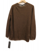 GRAY(グレイ)の古着「リネンニット」|ブラウン