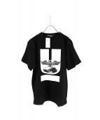 UNDER COVER(アンダーカバー)の古着「コラボUロゴプリントTシャツ」 ブラック