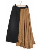 Rito(リト)の古着「異素材コンビアシンメトリースカート」