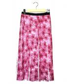 EPOCA(エポカ)の古着「ドローイングオーキッドプリントスカート」|ピンク