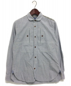 JUNYA WATANABE COMME des GARCONS MAN(ジュンヤワタナベ コムデギャルソン マン)の古着「エルボーパッチ付シャツ」|スカイブルー
