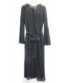 FRAY ID(フレイアイディー)の古着「レースワンピース」|ブラック