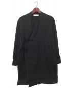 ETHOSENS(エトセンス)の古着「サテン作務衣」|ブラック