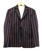 Black Fleece(ブラックフリース)の古着「ストライプジャケット」|ネイビー