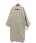 ETRE TOKYO(エトレトウキョウ)の古着「ステンカラーコクーンコート」 アイボリー