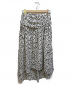 DRWCYS(ドロシーズ)の古着「小花柄ギャザースカート」|ホワイト