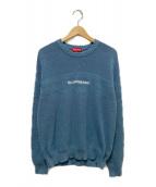Supreme(シュプリーム)の古着「チェストストライプラグランセーター」|ブルー