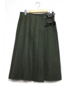 ONEIL OF DUBLIN(オニール オブ ダブリン)の古着「ラップスカート」|オリーブ