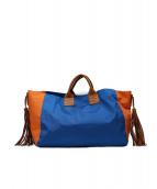 ahum(アウン)の古着「トートバッグ」|ブルー×オレンジ