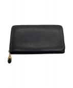Yves Saint Laurent(イブサンローラン)の古着「ラウンドファスナー財布」|ブラック