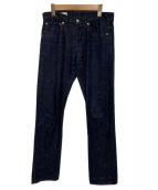 MAISON KITSUNE(メゾンキツネ)の古着「テーパードデニムパンツ」|インディゴ