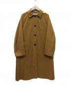 LA MARINE FRANCAISE(マリンフランセーズ)の古着「配色フードコート」|キャメル