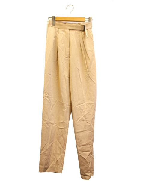 MAISON SPECIAL(メゾンスペシャル)MAISON SPECIAL (メゾンスペシャル) 2タックサテンパンツ ベージュ サイズ:SIZE 36 未使用品 参考定価¥16.800程度の古着・服飾アイテム