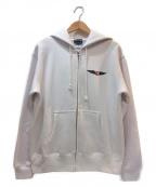 THRASHER(スラッシャー)の古着「ジップパーカー」|ホワイト