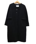 SLOBE IENA(イエナスローブ)の古着「Vネックノーカラーコート」|ブラック