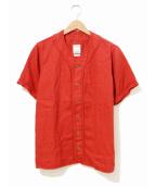 VISVIM(ヴィスヴィム)の古着「ベースボールシャツ」|レッド