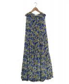 UNITED ARROWS(ユナイテッドアローズ)の古着「ノースリーブワンピース」|ブルー