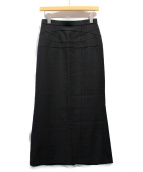 JUNYA WATANABE COMME des GARCONS(ジュンヤワタナベ コムデギャルソン)の古着「マキシスカート」|ブラック