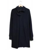sacai(サカイ)の古着「ウールステンカラーコート」|ネイビー
