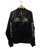 Hysteric Glamour × THE CRAMPS(ヒステリックグラマー × ザ・クランプス)の古着「HUNGRY刺繍スカジャン」|ブラック