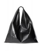 MM6 Maison Margiela(エムエムシックス メゾンマルジェラ)の古着「ジャパニーズクリンクルドレザーバッグ」|ブラック