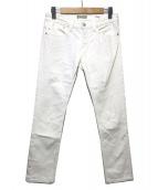 YANUK(ヤヌーク)の古着「ボーイズスリムデニムパンツ」|ホワイト