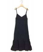 tricot COMME des GARCONS(トリコ コム デ ギャルソン)の古着「06AW キャミソールワンピース」 ブラック