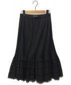 PLEATS PLEASE(プリーツプリーズ)の古着「プリーツフリルスカート」|ブラック