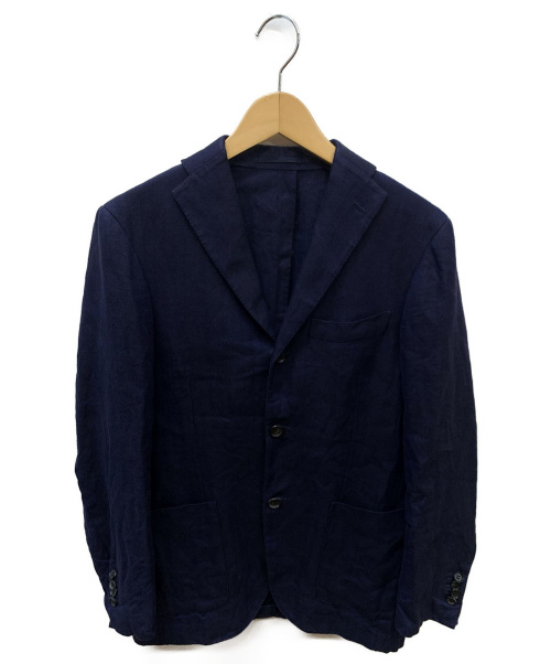 RING JACKET(リングヂャケット)RING JACKET (リングジャケット) リネンジャケット ネイビー サイズ:表記なしの古着・服飾アイテム