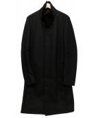 ATTACHMENT(アタッチメント)の古着「スタンドカラーコート」|ブラック