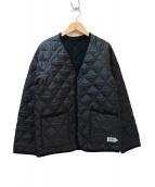 ARMEN(アーメン)の古着「Vネックキルティングジャケット」|ブラック