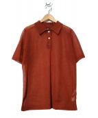 BATONER(バトナー)の古着「シアーポロシャツ」|ブラウン