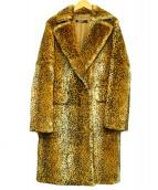 DKNY(ダナキャランニューヨーク)の古着「ラビットファーコート」|ブラウン