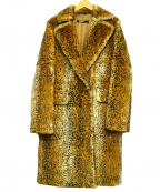 DKNY(ダナキャランニューヨーク)の古着「ラビットファーコート」 ブラウン
