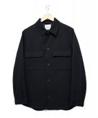 EDIFICE(エディフィス)の古着「CPOシャツ カルゼブルゾン」 ネイビー