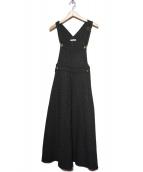 MITTERNACHT(ミターナット)の古着「ツイードマキシジャンパースカート」|グレー