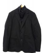 HUGO BOSS(ヒューゴボス)の古着「フロントライナー付ジャケット」|ブラック