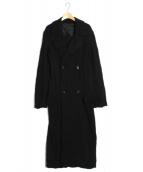 yohji yamamoto+noir(ヨウジヤマモト プリュスノアール)の古着「ロングコート」|ブラック